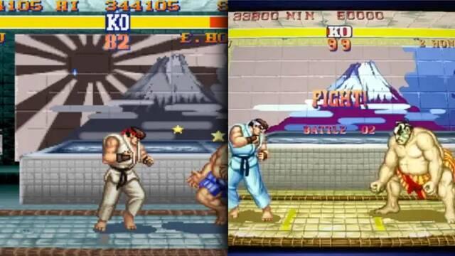 Desaparece la bandera del Sol Naciente del Street Fighter 2 incluido en Capcom Arcade Stadium.