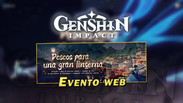Genshin Impact: Evento web Deseos para una gran linterna con Protogemas gratis