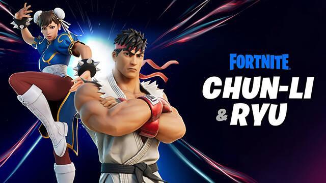 Ryu y Chun-Li de Street Fighter llegan hoy a Fortnite