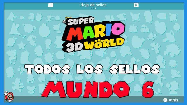 Super Mario 3D World: TODOS los sellos del Mundo 6
