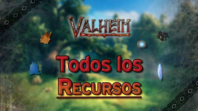 Valheim: TODOS los tipos de recursos y cómo conseguirlos