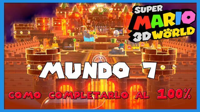 Mundo 7 en Super Mario 3D World al 100%