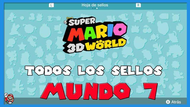 Super Mario 3D World: TODOS los sellos del Mundo 7
