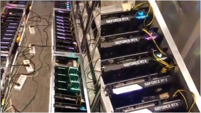 Esta mina de Ethereum utiliza casi 100 gráficas RTX de NVIDIA