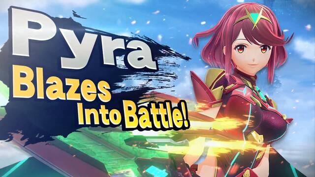 Presentación de Pyra y Mythra en Super Smash Bros. Ultimate el 4 de marzo.