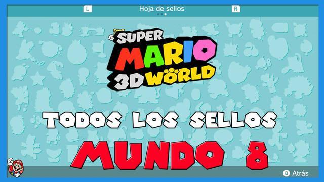 Super Mario 3D World: TODOS los sellos del Mundo 8