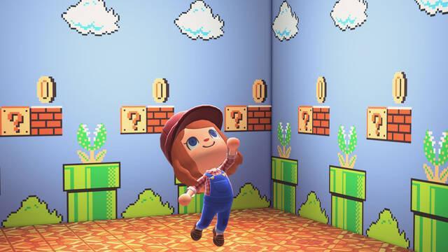 Animal Crossing: New horizons actualización 1.8.0 super mario