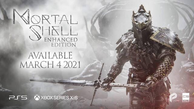Mortal Shell: Enhanced Edition llegará el 4 de marzo a PS5 y Xbox Series X/S.