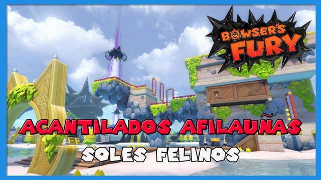 TODOS los Soles felinos de Acantilados Afilauñas en Bowser's Fury