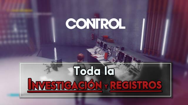 Control: Todos los documentos de Investigación y registros - Localización