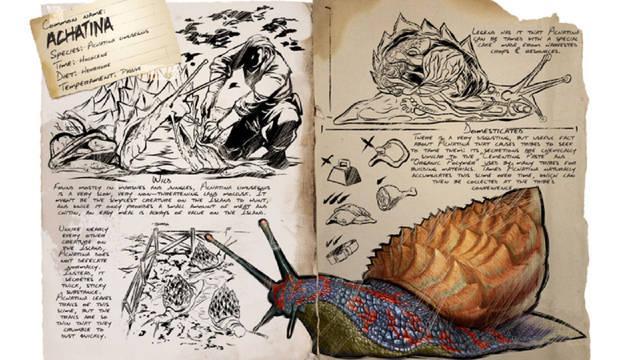 Todo sobre el dinosaurio Achatina en Ark: Survival Evolved