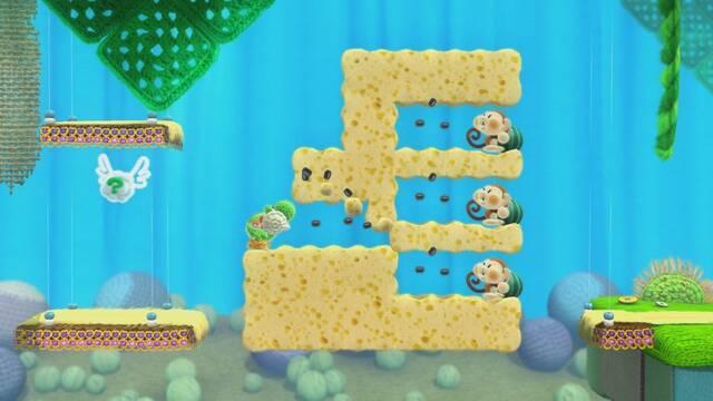 Nuevas imágenes y 'gameplay' comentado de Yoshi's Woolly World