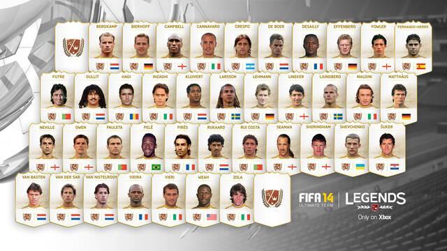 Desveladas las leyendas que incluirá FIFA 14 Ultimate Team en Xbox One
