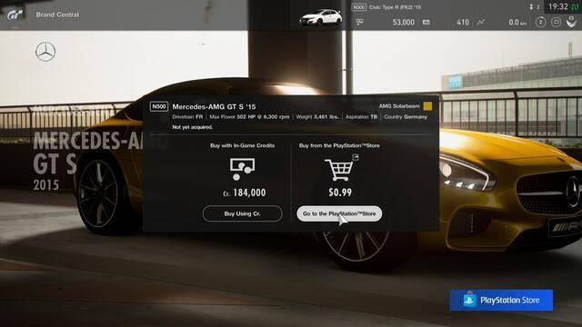 Gran Turismo Sport suma un sistema de micropagos un año después
