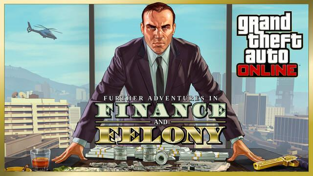 GTA Online muestra el contenido 'Nuevas Aventuras de Finanzas y Crimen' con un tráiler