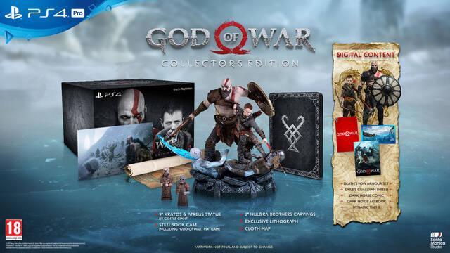 Así son todas las ediciones especiales de God of War
