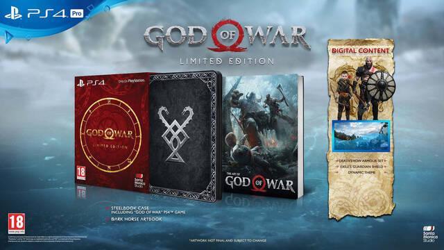 Edición limitada de God of War PS4