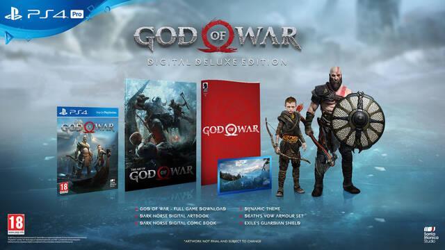 Edición digital deluxe de God of War PS4