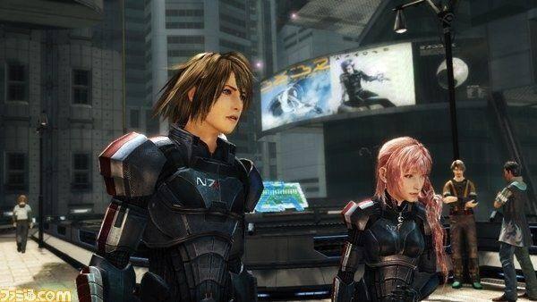 Primera imagen de los trajes de Mass Effect 3 en Final Fantasy XIII-2