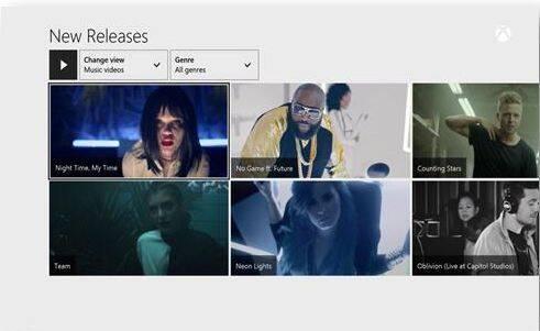 Xbox Music se actualiza con 92.000 videoclips