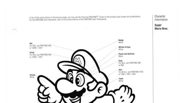 Recuperan una guía de 1993 de Nintendo sobre el tamaño y color de sus personajes