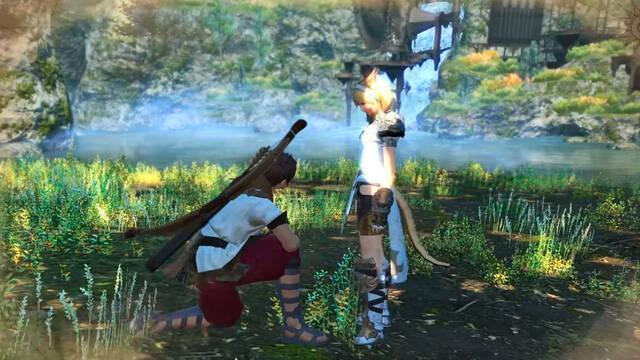 Primer vistazo a la serie de imagen real con FF XIV como trasfondo