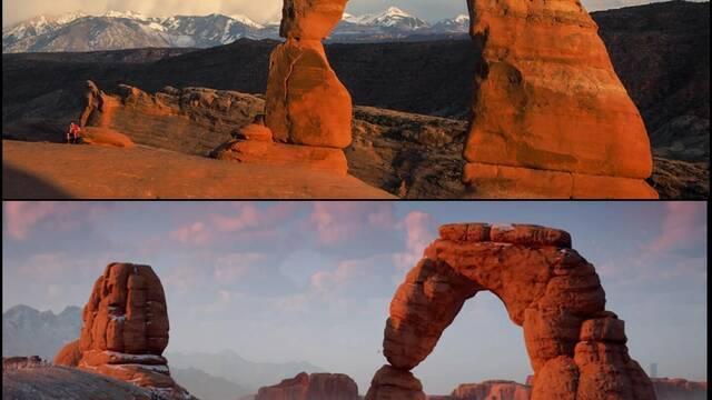 Comparan los escenarios de Horizon: Zero Dawn con sus equivalentes reales