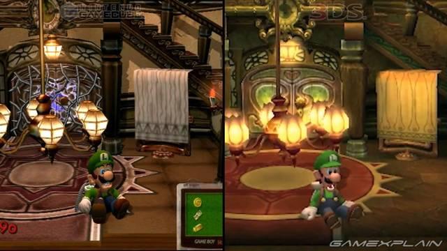 Comparan en vídeo el remake de Luigi's Mansion con el original de GameCube