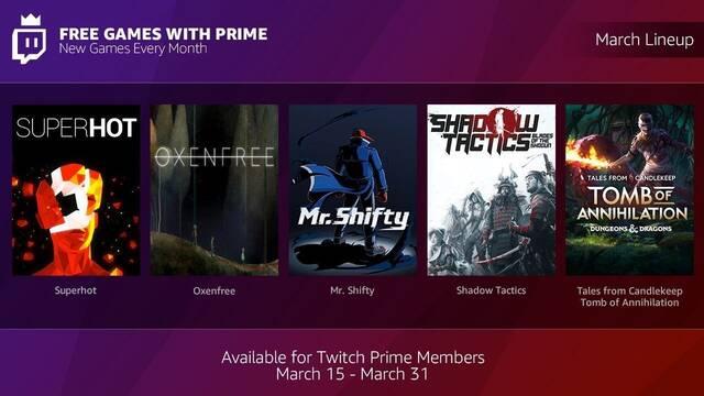 Los suscriptores de Twitch Prime recibirán juegos gratuitos mensuales