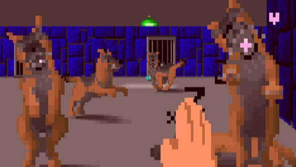 Un mod de Wolfenstein 3D nos propone acariciar a los perros del juego