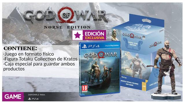 GAME venderá en exclusiva la God of War Norse Edition