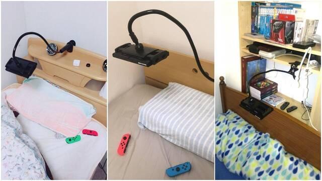 Así es Lazy Arm, un accesorio para jugar a Switch en la cama