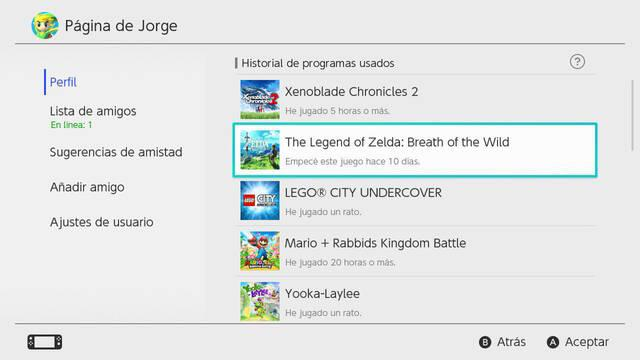 Nintendo Switch borra el registro de nuestras horas de juego tras un año