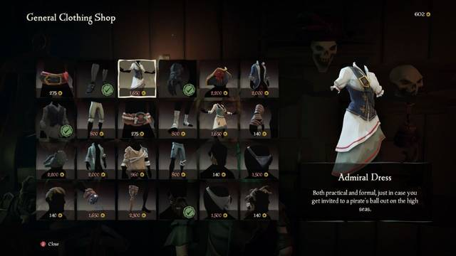 Personalización Sea of Thieves - Indumentarias