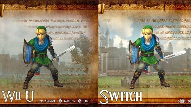 Comparan Hyrule Warriors en Wii U y Nintendo Switch