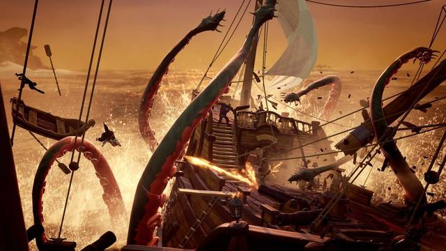 Matar al Kraken en Sea of Thieves