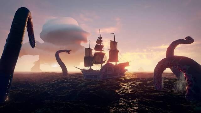 Cómo encontrar y matar al Kraken en Sea of Thieves