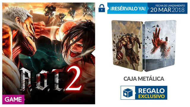 GAME detalla sus incentivos por la reserva de Attack on Titan 2