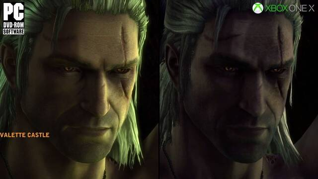 Comparan The Witcher 2 en Xbox One X y PC