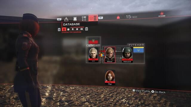 Left Alive: Base de datos del juego