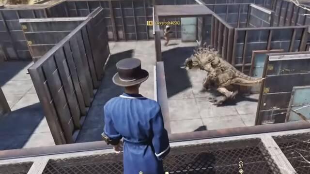 Fallout 76: Un jugador atrapa a los usuarios en un laberinto con un Deathclaw