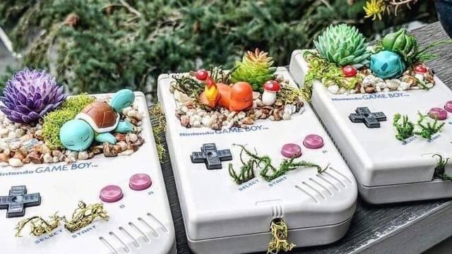 Una artista utiliza las portátiles de Nintendo como macetas de Pokémon