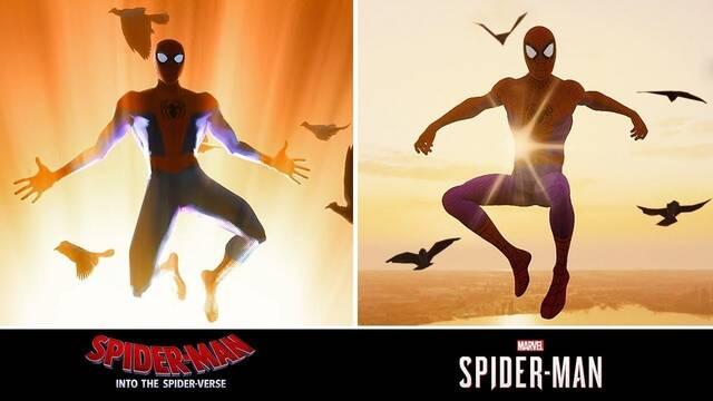 Spider-Man de PS4 y 'Spider-Man: Un nuevo universo' unidos en vídeo