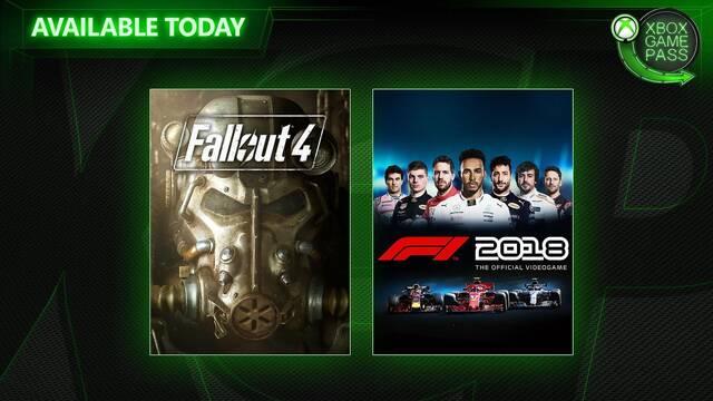 Ya disponibles Fallout 4 y F1 2018 en Xbox Game Pass