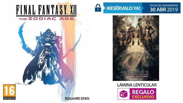 GAME anuncia sus incentivos por reserva para Final Fantasy XII en Switch