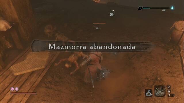Mazmorra abandonada en Sekiro: secretos y 100%