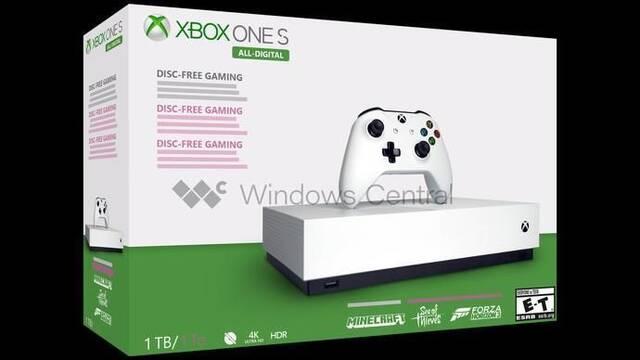 Filtración: Así será la Xbox One S sin lector de discos