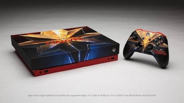 Microsoft sortea una Xbox One X personalizada de 'Capitana Marvel'