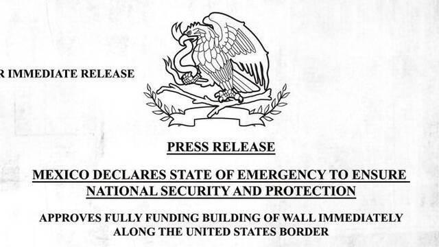 México construye un muro en la frontera con EE.UU en The Division 2