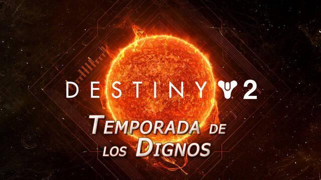 Temporada de los Dignos en Destiny 2: nuevas misiones, equipo y más